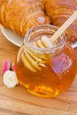 Honung burk närbild — Stockfoto
