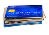 Stack of credit cards — Stock Photo