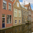 Street with canal of Delft, Holland — Stock Photo