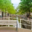 Bridge in old town, Delft, Holland — Stockfoto