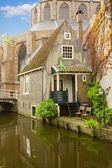 Casco antiguo de delft, Países Bajos — Foto de Stock