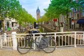 Oude binnenstad van delft in het voorjaar, nederland — Stockfoto