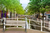 Bridge in old town, Delft, Holland — Stockfoto