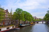 Canal ring of Amsterdam, Netherlands — Stock Photo