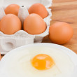 Raw eggs for cooking — Stock Photo