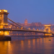Budapest landmarks at night, Hungary — Stock Photo