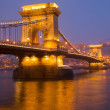 Chain Bridge (Szechenyi lanchid), Budapest - Stock Photo