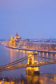 Cityscape of Budapest at night — Stock Photo