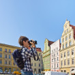 Tourist in Wroclaw — Stock Photo
