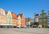 Old houses on square Solny in Wroclaw — Stock Photo
