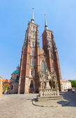 Cathedral church of Wroclaw, Poland — Foto Stock