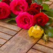 Stock Photo: Pile of fresh garden roses