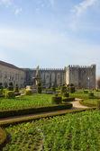 Palác biskupa, braga, portugalsko — Stock fotografie