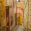 Narrow  street with stairs, Porto, Portugal - Stock Photo