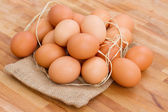 Pile of raw eggs — Stock Photo