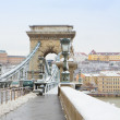 Details of Chain bridge , Hungary — Stock Photo