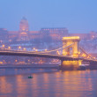 Budapest at night, Hungary - Stock Photo