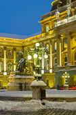 Kraliyet Sarayı, gece, Macaristan — Stok fotoğraf