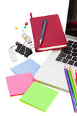 Working place with stationery — Stock Photo