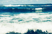 Storm sea waves — Stock Photo