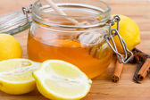 Citrus honey in jar — Stock Photo