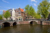 Bridges of canal ring, Amsterdam — Stock Photo
