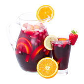 Jar of sangria — Stock Photo