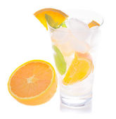 Soda with orange — Stock Photo