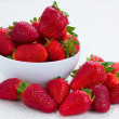 Stock Photo: Fresh strawberry in plate