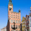 city hall of gdansk — Stock Photo