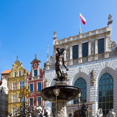 The Neptune fountain, Gdansk — Stock Photo