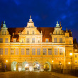 Green gate (zelena brama) at night, Gdansk — Stock Photo