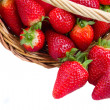 Stock Photo: Red strawberry in basket