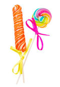 Lolly pop and candy stick — Stock Photo