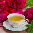 Mint cup of tea — Stock Photo