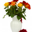 Stock Photo: Multicolored roses in vase
