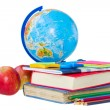 Stock Photo: Globe and books