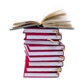Stuck of books — Stock Photo