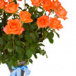 Fresh orange  roses in vase — Foto Stock