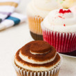 Array of cupcakes — Stock Photo