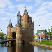The Gate of Amsterdam, Haarlem, Holland — Stock Photo