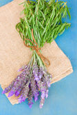 Lavender flowers on a table — Stock Photo