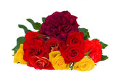 Bouquet of fresh garden roses — Stock Photo