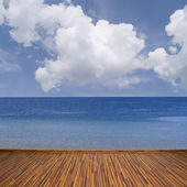 Seascape with clouds — Stock Photo