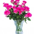 Stock Photo: Pink roses in vase