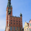 Facade of town hall of Gdansk — Stockfoto