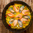 Seafood Paell-traditional spanish dish — Stock Photo #27693307