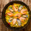 Stock Photo: Seafood Paell-traditional spanish dish