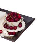Ciotola dolce sul vassoio — Foto Stock