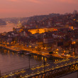Old town of Oporto at sunset, Portugal — Stock Photo #28277969